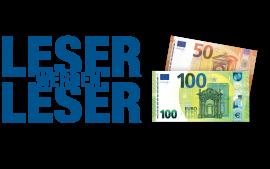 150 Euro für Sie. Ein neuer TLZ Leser für uns.
