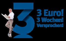 3 Wochen für 3 Euro lesen. Versprochen!